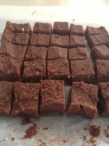 Raw Almond Pulp Chocolate Fudget